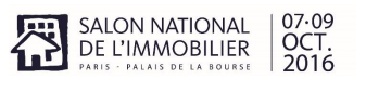 Salon National de l'Immobilier : du 7 au 9 octobre 2016 à Paris